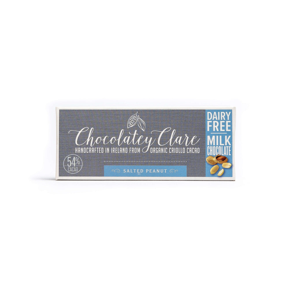 Chocolatey Clare Salted Peanut Dairy Free Chocolate Bar: 40g