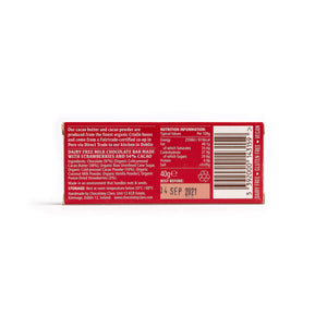 Load image into Gallery viewer, Chocolatey Clare Simply Strawberry Dairy Free Chocolate Bar: 40g