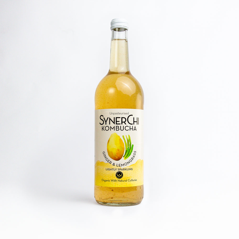 Synerchi Kombucha: Ginger & Lemongrass 750ml