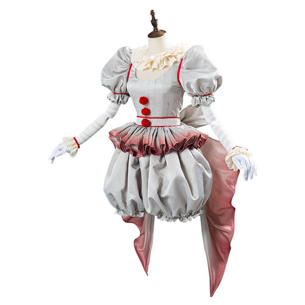 Horror Pennywise Le Costume de Clown aux Femmes Halloween Carnaval Cosplay Costume