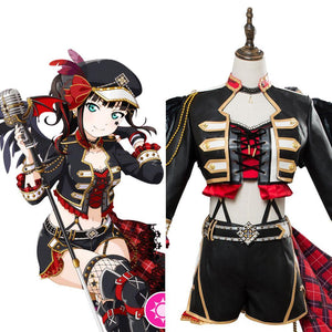 LoveLive School Idol Tomodachi Kurosawa Dia Punk Rock Cosplay Costume