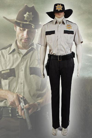 The Walking Dead Rick Grimes Cosplay Costume