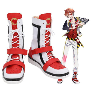 Twisted Wonderland Ace Trappola  Bottes Halloween Carnaval Cosplay Chaussures