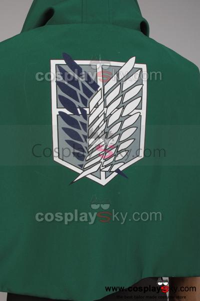 Attack on Titan Shingeki no Kyojin Uniforme du Bataillon d'Exploration Avec Cape
