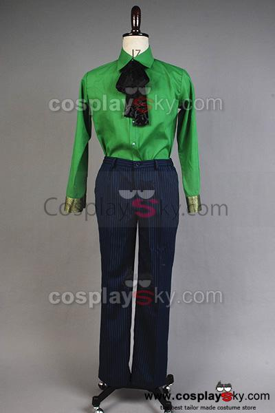 Batman Arkham Asylum Joker Cosplay Costume Ver. 2