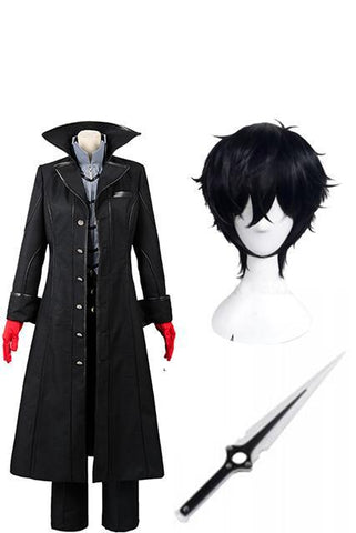 Persona 5 Joker Cosplay Costume+Perruque+Epee