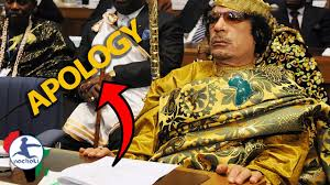 Watch Gaddafi's Apology on Behalf of All Arabs for their Role in the Slave Trade