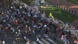 Crowds Gather For Second Day at Black Lives Matter Plaza After Biden Victory Projected