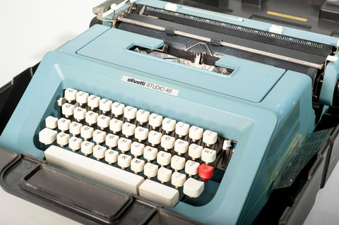 """A Smithsonian artifact—an Olivetti typewriter—from the collections of the Anacostia Community Museum will represent Butler's life in the """"Futures"""" show. (Anacostia Community Museum)"""