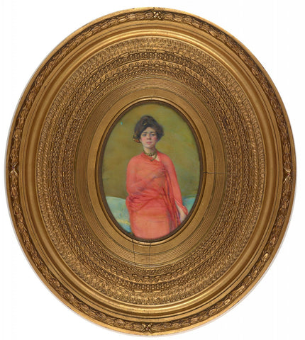 Miniature Portrait of Belle da Costa Greene in Egyptian costume by Laura Coombs Hills.