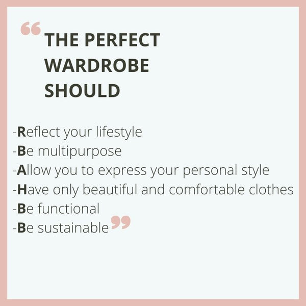 The perfect wardrobe should