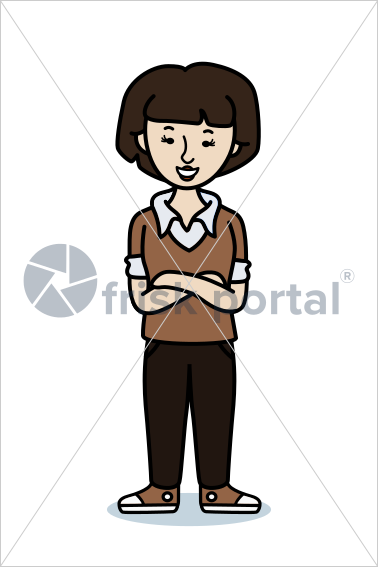 Casual professional, illustrated business avatar, stock vector (#SC003)