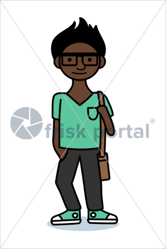 Casual professional, illustrated business avatar, stock vector (#SC010)