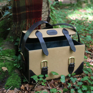 Canvas and leather cartridge box on location