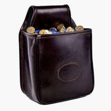 Load image into Gallery viewer, Audley leather open top cartridge pouch with shotgun cartridges