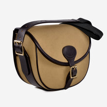Load image into Gallery viewer, Cavendish canvas and leather large cartridge bag