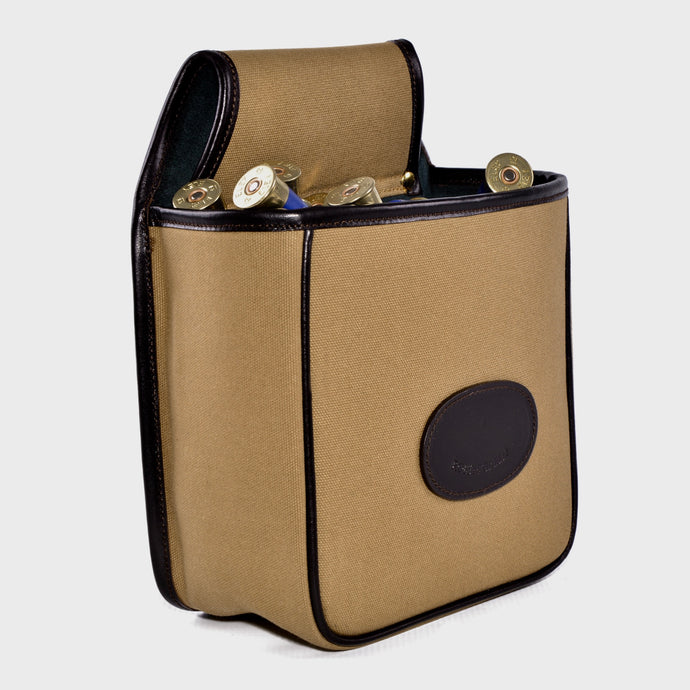 Canvas cartridge pouch with shotgun cartridges
