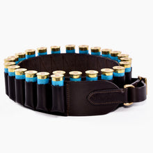 Load image into Gallery viewer, Leather closed loop cartridge belt 12 bore