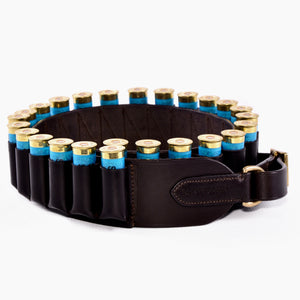 Leather closed loop cartridge belt 12 bore