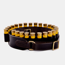 Load image into Gallery viewer, Leather Open Loop Cartridge Belt- 20 Bore
