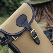 Load image into Gallery viewer, Canvas & Leather Gun Slip with Buckle & Zip
