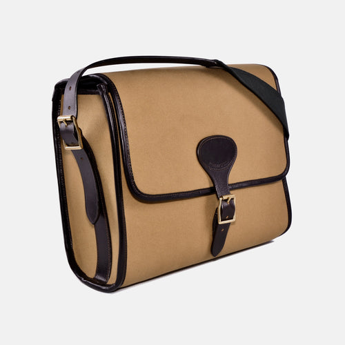 Berkeley Canvas and Leather Messenger Bag