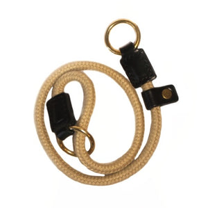 Rope Slip Collar with Black Leather