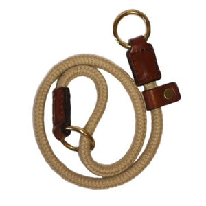 Rope Slip Collar with Tan Leather