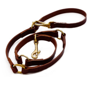 Woodstock Leather Lead Brown