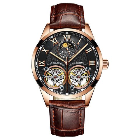Image of AILANG Original design watch men's double flywheel automatic mechanical watch fashion casual business men's clock Original