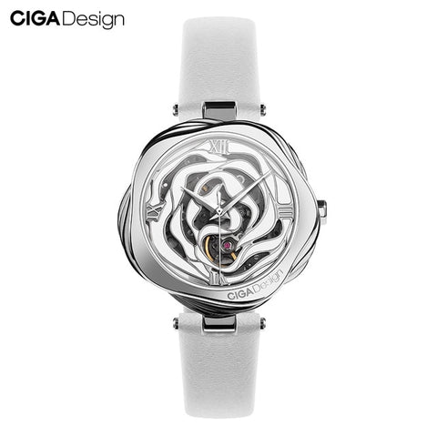 Image of CIGA DESIGN Watch Denmark Rose Women Automatic Mechanical Or Quartz Wristwatch Stainless Steel Case Japan Movement Timepiece