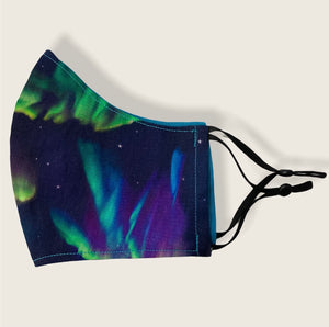Adult Medium-L  Size -Ninja Style-Northern Lights-Special Edition Face Mask