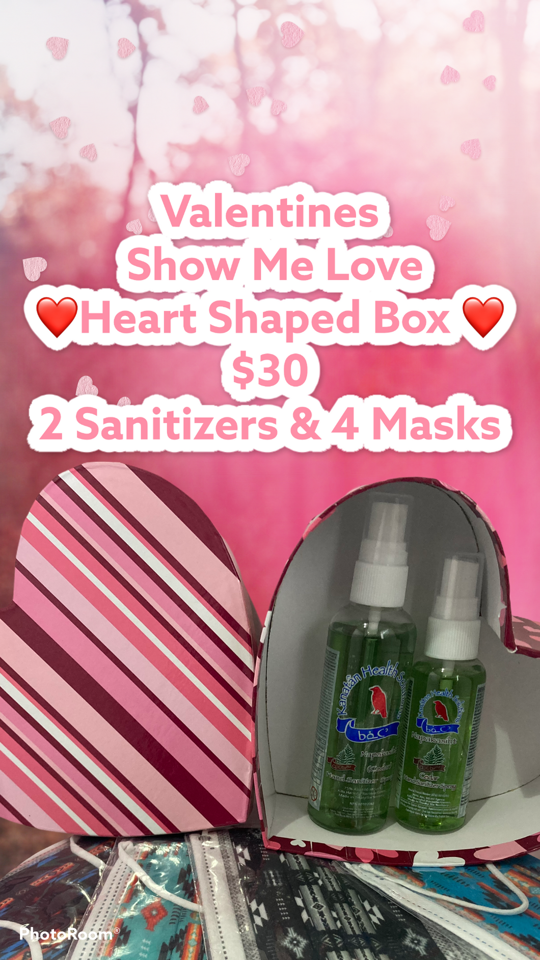 Valentines Day ❤️ Show me Love Heart Shaped Box Set