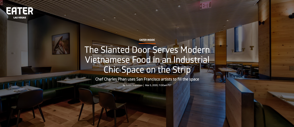 The Slanted Door Serves Modern Vietnamese Food in an Industrial Chic Space on the Strip