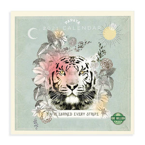PAPAYA - 2021 Wall Calendar, Stripes