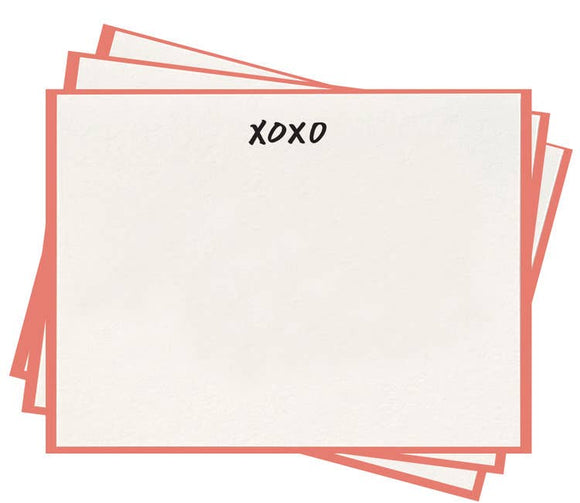 Dahlia Press - Xoxo Flat Notes - Set Of 8