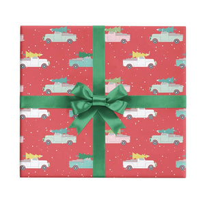 REVEL & Co. - Holiday Trucks Christmas Wrapping Paper Sheet