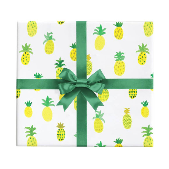REVEL & Co. - Watercolor Pineapple Wrapping Paper Sheet