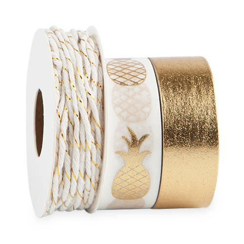 Pineapple Crush Washi Tape & Twine