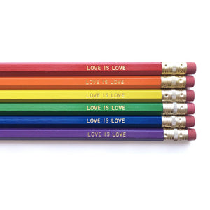 Dahlia Press - Love is Love - Set of Pencils