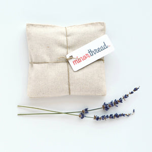 Minor Thread - Organic Lavender Sachets in Natural Linen - Set of 2