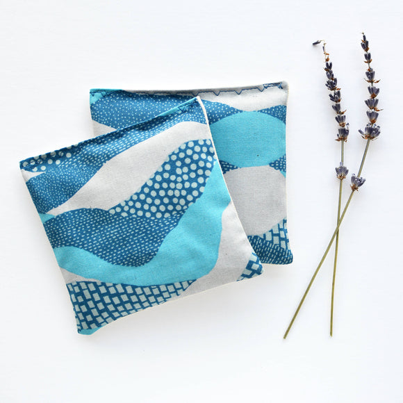 Minor Thread - Organic Lavender Sachets in Land's End Blue - Set of 2