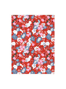Red Cap Cards - Ruby Red Flower Wrap
