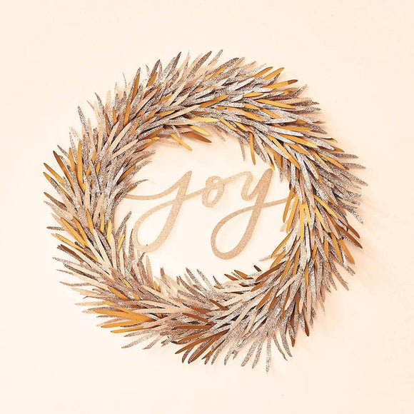 Gold Glitter Joy Wreath DIY Craft Kit