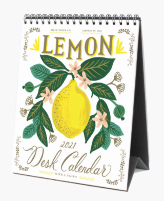 2021 Lemon Desk Calendar - Rifle Paper Co.