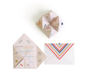 Cootie Catcher Encouragement Card