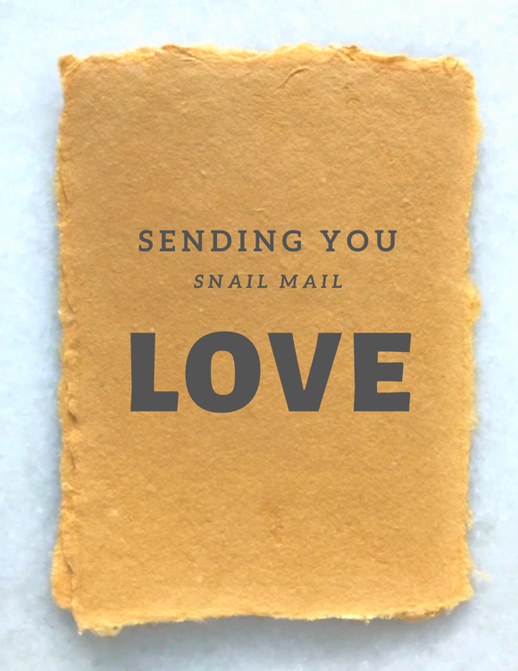 Paper Baristas - COVID19 GREETING CARD: SENDING SNAIL MAIL LOVE