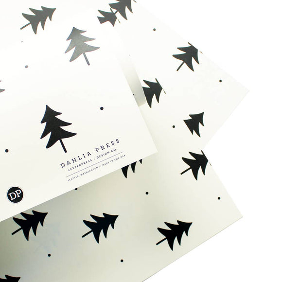 Dahlia Press - Silhouette Trees - Gift Wrap (Single Sheets)