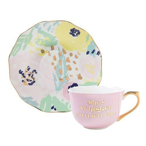 5OZ Tea CUP/SAUCER SHE'S WHISKEY