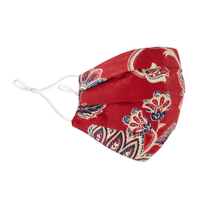 Peking Handicraft - [IMPROVED] Face Mask, Red Jacobean Floral
